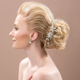 Ericdress Comely Crystal Hair Flower