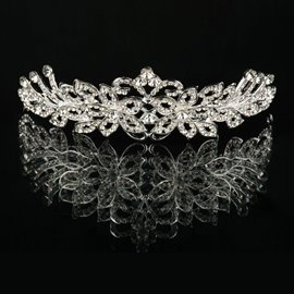 Ericdress Charming Flower Shaped Rhinestone Alloy Tiara