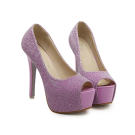Ericdress Plain Peep Toe Ultra-High Heel Pumps