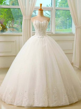 Ericdress Classic Sweetheart Beading Ball Gown Wedding Dress