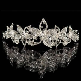Ericdress Shiny Flowers Shape Alloy Wedding Tiara