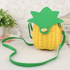 Ericdress Cute Pineapple Shape Knitted Shoulder Bag