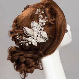 Ericdress Sweet Pearls Butterfly Hair Flower