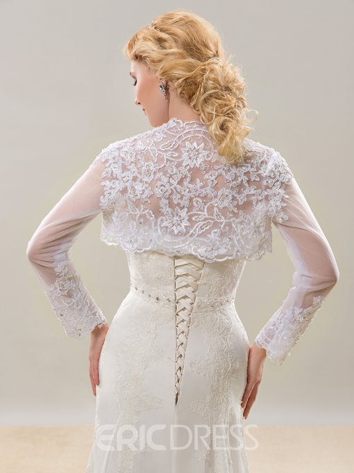 Ericdress Beautiful Appliques Long Sleeves Wedding Jacket
