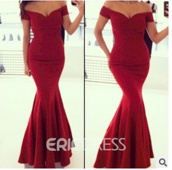 Ericdress Mermaid Off-The-Shoulder Sexy Evening Dress