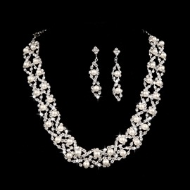Ericdress Pretty Pearls Wedding Jewelry Set
