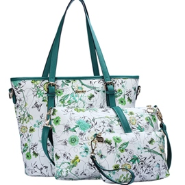 Ericdress Trendy Leisure Floral Print Tote Bags(3 Bags)