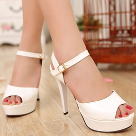 Chic Peep-toe Stiletto Sandals