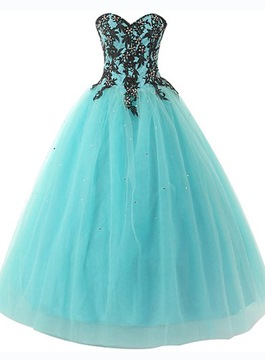 dc1788d9ab2 Ericdress Dramatic Sweetheart Appliques Ball Gown Quinceanera Dress