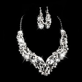 Ericdress Amazing Alloy Rhinestone Wedding Jewelry Set