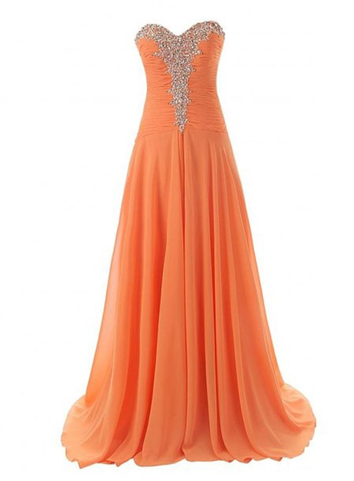 Ericdress Fantastic Sweetheart Beaded Lace-Up Long Prom Dress