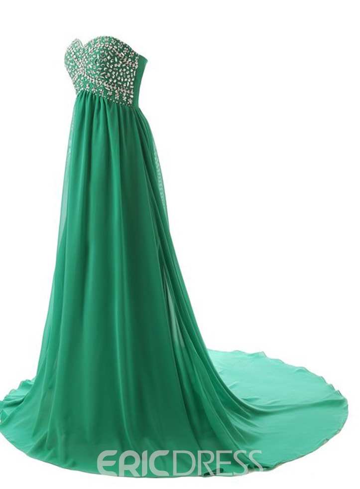 Ericdress Honorable Sweetheart Beaded Long Evening Dress