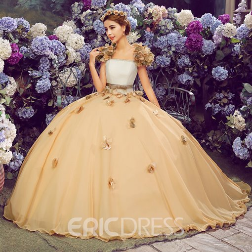 Ericdress Applliques Pearl Ball Gown Quinceanera Dress