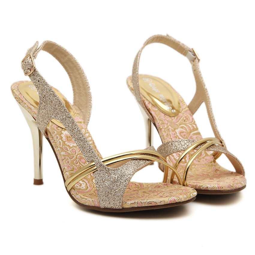 Ericdress Sequins Peep-toe Stiletto Sandals
