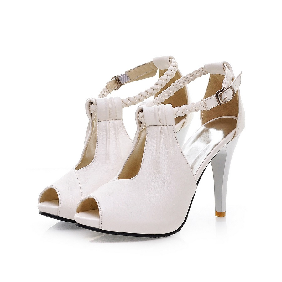 Elegant Peep-toe Stiletto Sandals