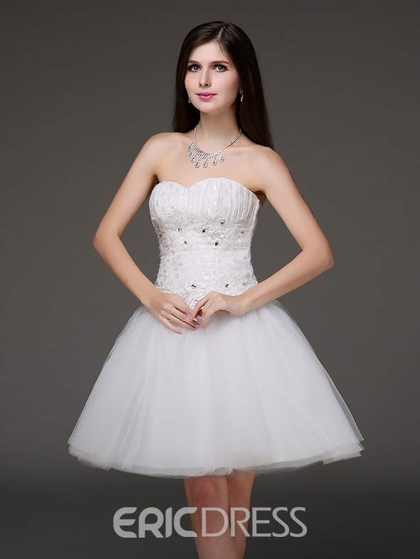 Ericdress A-Line Sweetheart Neckline Beadings Short Homecoming Dress