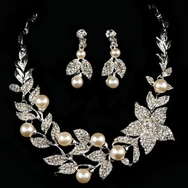 Ericdress Charming Pearls Alloy Jewelry Set