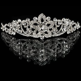 Ericdress Beautiful Alloy Rhinestone Flowers Wedding Tiara