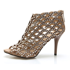 Gorgeous Shining Rhinestone Stiletto Sandals