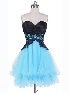 Ericdress impressionnant Sweetheart a-ligne courte en dentelle Junior Prom/Homecoming Dress