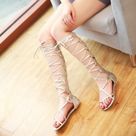 Hot Gentlewoman Wrinkling Flat Sandals