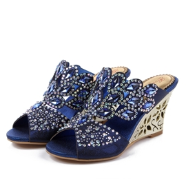 Strass scintillants Wedge Sandals