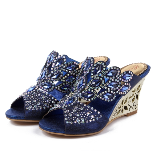 Ericdress Glittering Rhinestone Women's Wedge Sandals