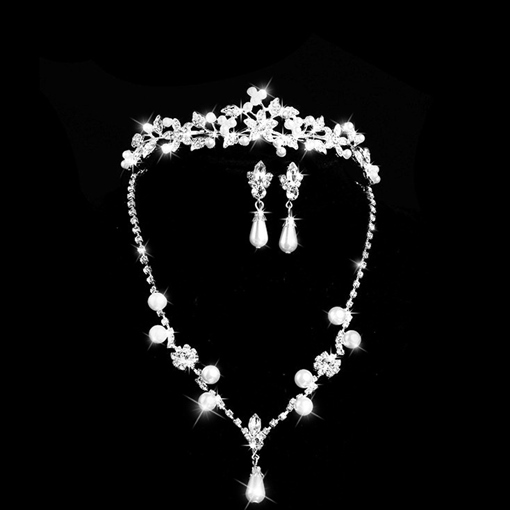 Ericdress Chic Rhinestone Alloy Pearls Wedding Jewel Set