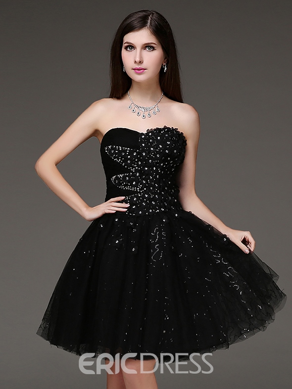 Ericdress A-Line Sweetheart Beadings Short Homecoming Dress