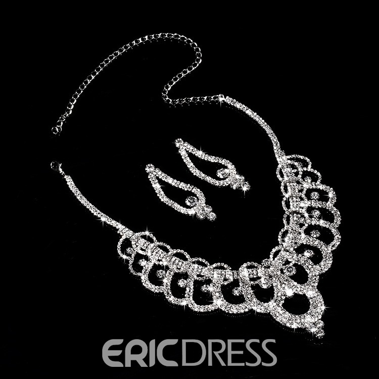 Ericdress Charming Rhinestone Alloy Wedding Jewel Set