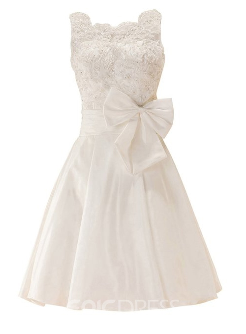 Ericdress Straps A-line Appliques Bowknot Short Homecoming Dress