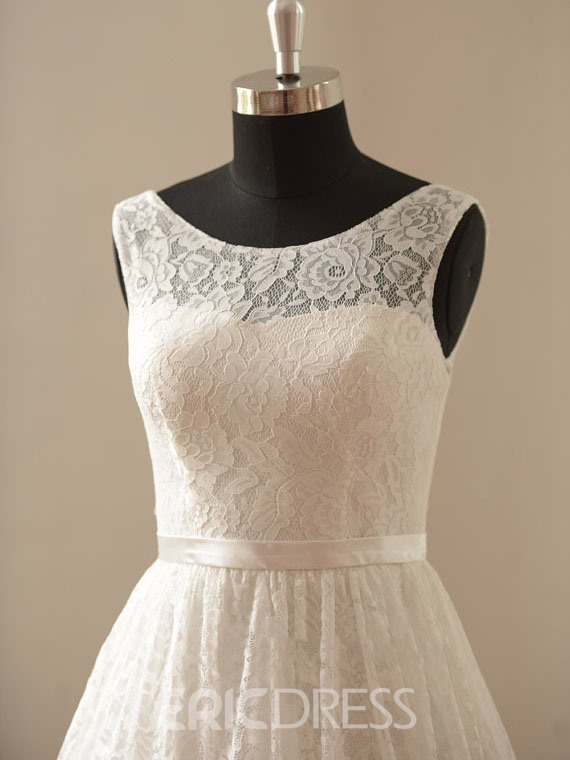 Ericdress Chic Short Lace Summer Wedding Dress