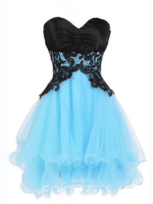 Ericdress Impressive Sweetheart A-Line Short Lace Junior Prom/Homecoming Dress