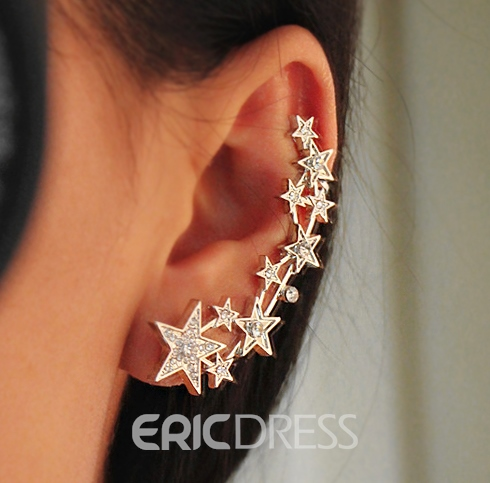 Shining Pentagram Decorated Ear Cuff