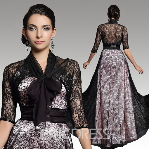 Ericdress Rejuvenating 3/4 Long Sleeves A-Line Lace Evening Dress