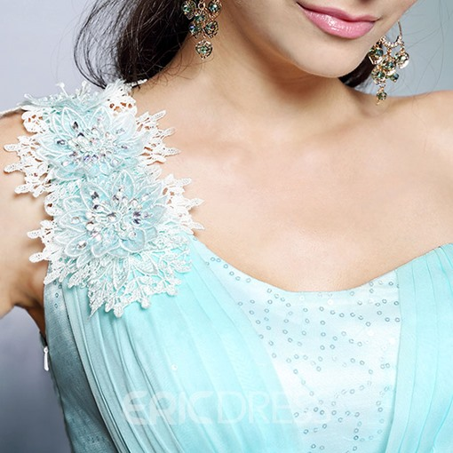 Ericdress High-Auality One-Shoulder Appliques Sequins Long Evening Dress