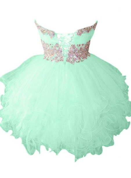 Ericdress Ball Gown Strapless Crystal Short Homecoming Dress
