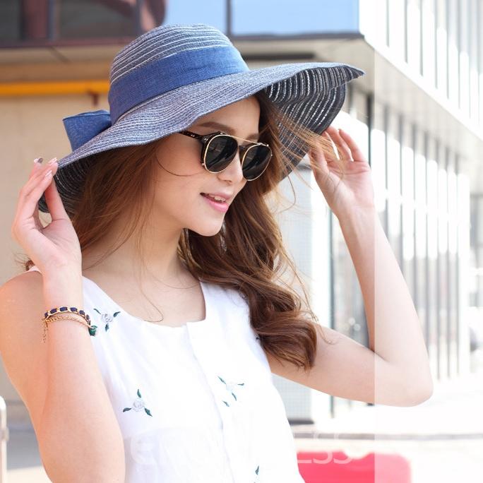 Bowknot Decorated High Quality Cotton Sunhat
