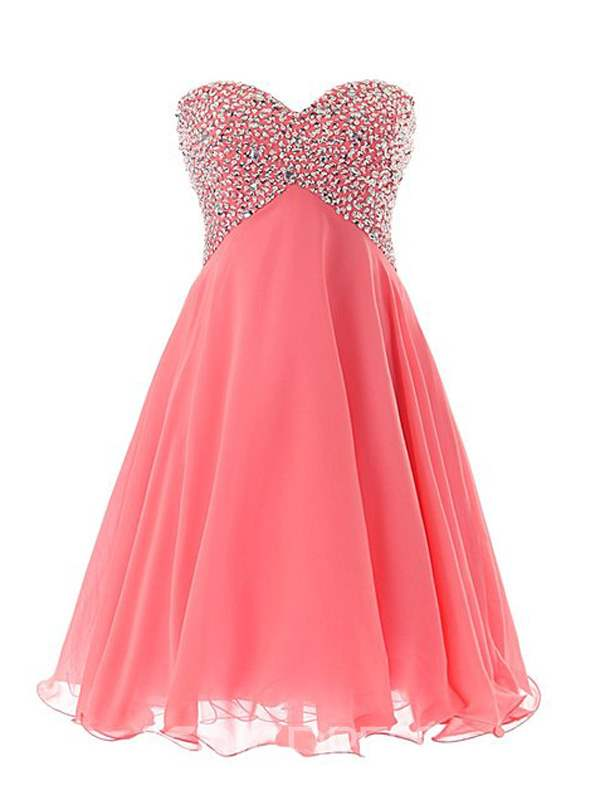 Ericdress Shinning Sweetheart Beaded Lace-Up Short Homecoming Dress