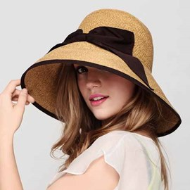 Ericdress Stylish Bowknot Wide Brim Sunhat