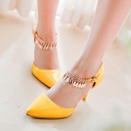 Candy Color Stiletto Sandals with Tassels