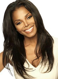 Ericdress Jannet Jackson Free Parting Long Natrural Straight Human Hair Full Lace Wigs 20 Inches