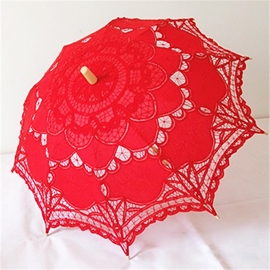 Ericdress High Quality Handmade Red Umbrella