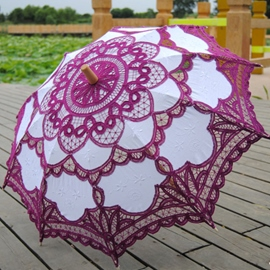 Ericdress Purple Wedding Umbrella