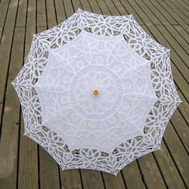 Ericdress High Quality White Handmade Bridal Umbrella