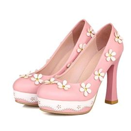 Ladylike Flower Decoration Pumps