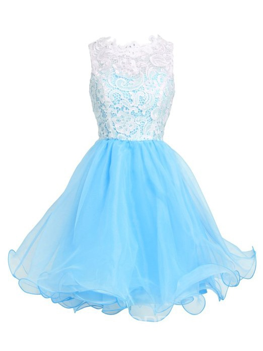 Ericdress Ruffles Lace Short A-Line Homecoming Dress