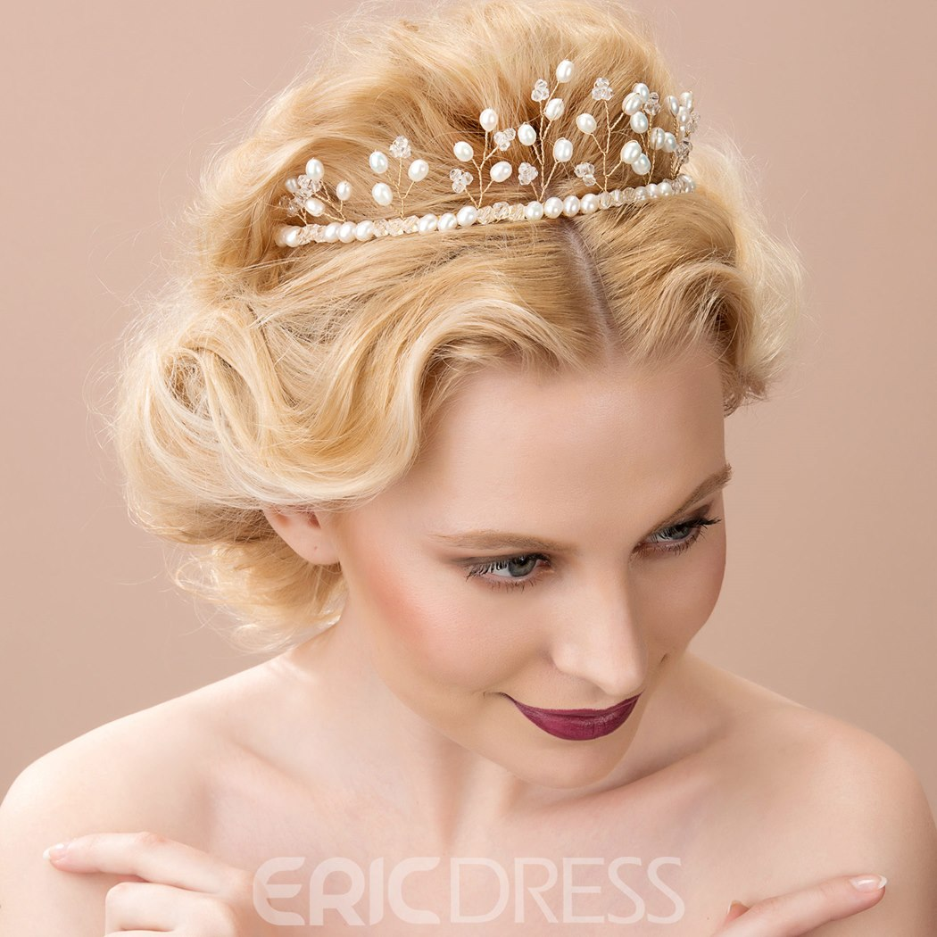 Ericdress Chic Pearls Alloy Handband