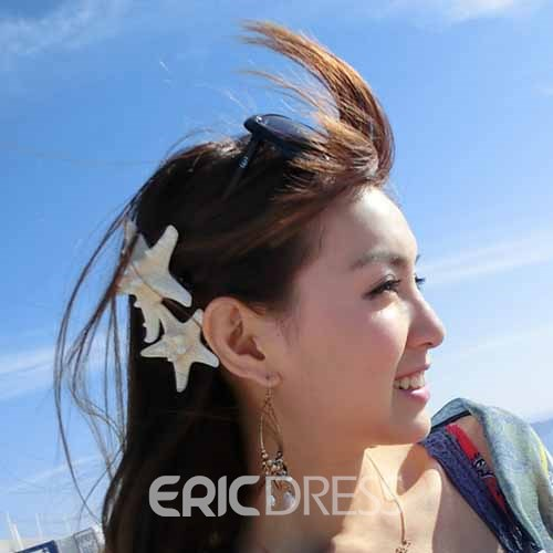 Ericdress Starfish Shape Side Hair Clips (2 Piece)