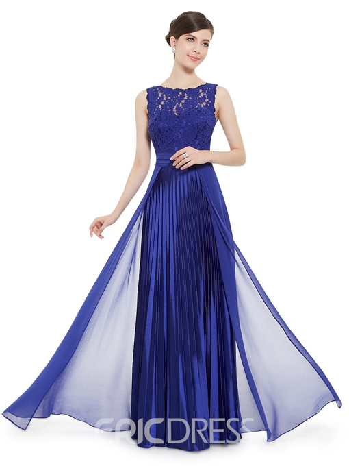 Ericdress Vogue A-Line Lace Floor-Length Evening Dress